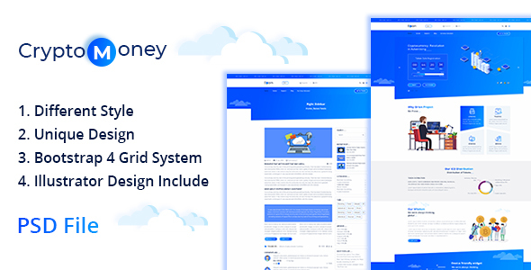 CryptoMoney - Crypto Currency Template