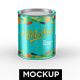 Tin Container Mockup - GraphicRiver Item for Sale