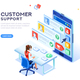 Customer Support Concept Vector - GraphicRiver Item for Sale