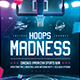 Basketball Madness Flyer College March Final Game Template - GraphicRiver Item for Sale