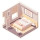 Vector Isometric Bedroom - GraphicRiver Item for Sale