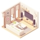 Vector Isometric Living Room - GraphicRiver Item for Sale