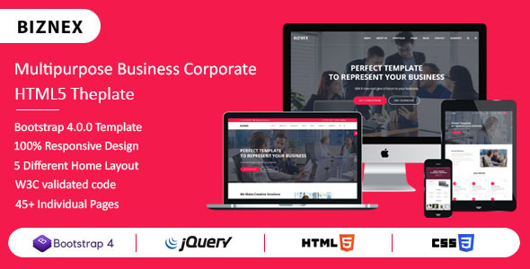 Multipurpose Business And Corporate HTML5 Template by ThemeVessel