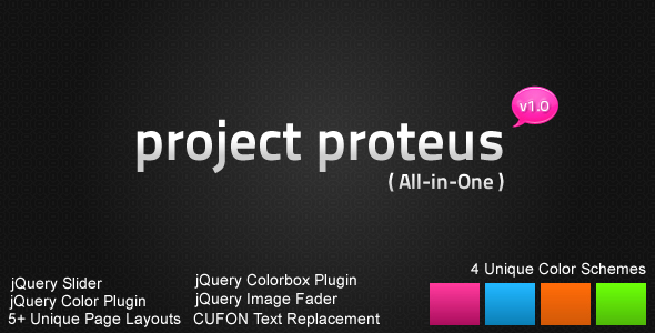 Free Download Project Proteus Portfolio / Business HTML Design Nulled Latest Version