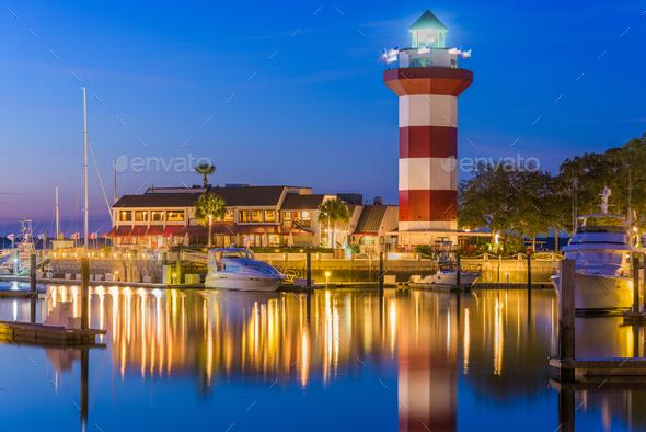 Hilton Head, South Carolina, Light House - Stock Photo - Images