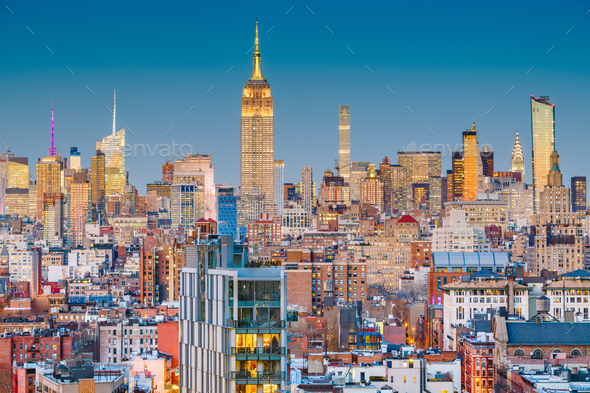 New York, New York, USASSkyline - Stock Photo - Images
