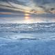 big lake frozen at sunset - PhotoDune Item for Sale