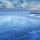 big lake frozen in dusk - PhotoDune Item for Sale