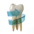 Tooth protection concept. Teeth with blue arrow isolated on whit - PhotoDune Item for Sale