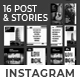 Black White Instagram Post and Stories - GraphicRiver Item for Sale