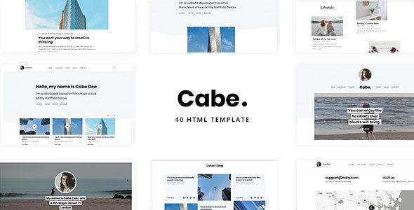 Cabe - Minimal and Clean Personal Blog Template