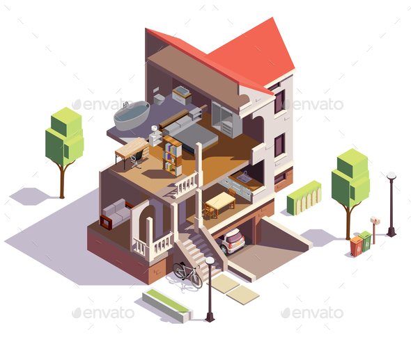 Suburbian Villa Profile Composition