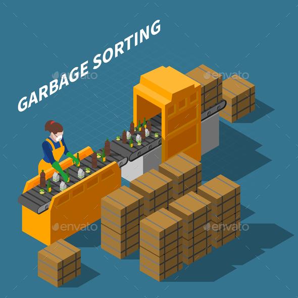 Garbage Sorting Conveyor Composition