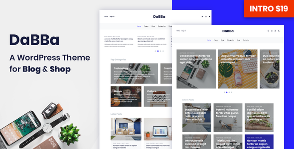 Dabba – A WordPress Theme For Blog & Shop - Blog / Magazine WordPress