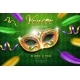 Poster with Masquerade Mask for Mardi Gras - GraphicRiver Item for Sale