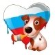 Animated Dog Brush Painted Heart of Russia - GraphicRiver Item for Sale