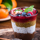 Homemade healthy brunch in jar served with chia seeds - PhotoDune Item for Sale