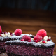Raspberry, chia and pomegranate seeds cake - PhotoDune Item for Sale