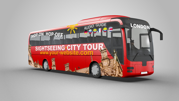 Sightseeing Tour Bus Mock Up By Se5d Videohive