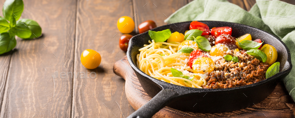 Delicious spaghetti Bolognaise - Stock Photo - Images