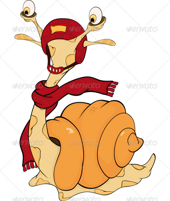 Snail  Monster Cartoon  - Animals Characters