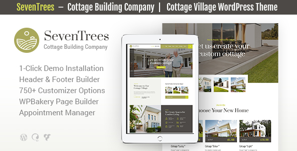 SevenTrees | Real Estate WordPress Theme Free Download