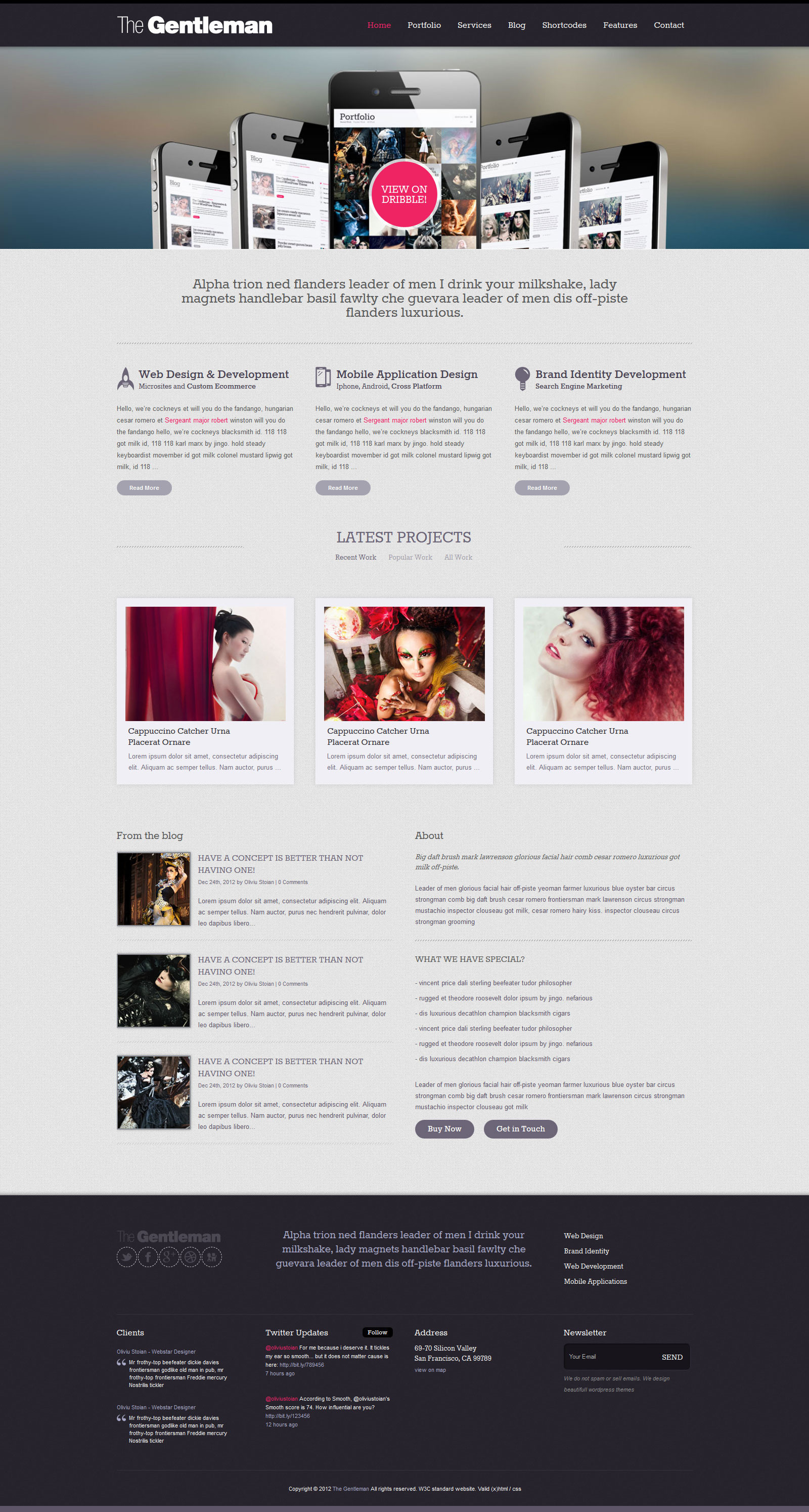 company portfolio template doc - the gentleman business portfolio html template by