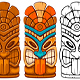 Tiki Mask and Mug - GraphicRiver Item for Sale