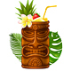 Cocktail in Tiki Mug - GraphicRiver Item for Sale