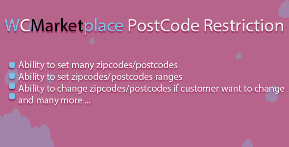 Wcmarketplace postcode restriction