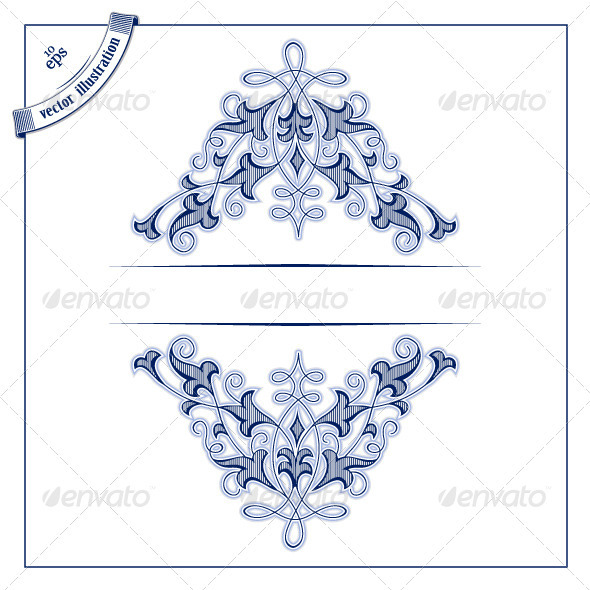 Retro Pattern Frame - Borders Decorative