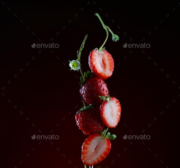 Fresh Organic Strawberries - Stock Photo - Images