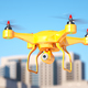 Generic quadcopter with camera spying in city - PhotoDune Item for Sale