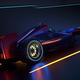 Race Car speeding along a futuristic tunnel - PhotoDune Item for Sale