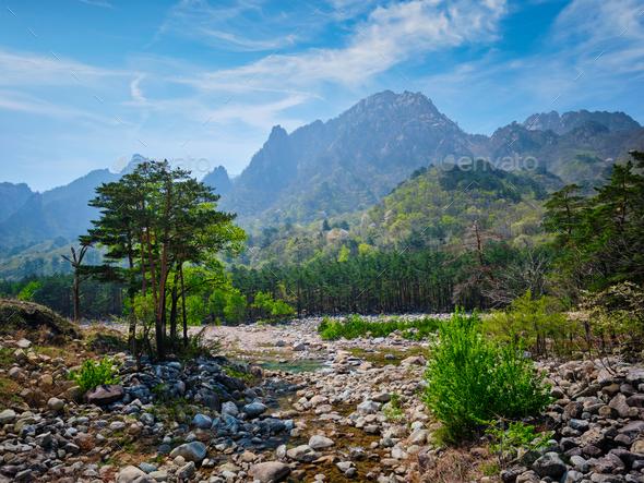Seoraksan National Park, South Korea - Stock Photo - Images