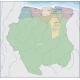 Map of Suriname - GraphicRiver Item for Sale