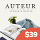 Auteur – WordPress Theme for Authors, Reviewers and Publishers - ThemeForest Item for Sale