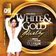 White and Gold Birthday Flyer - GraphicRiver Item for Sale