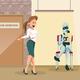Choose Robot for New Work. Upset Dismissed Man - GraphicRiver Item for Sale
