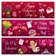 Valentines Day Love Holiday Hearts, Gifts and Ring - GraphicRiver Item for Sale