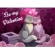 Cats on Roof with Hearts, Valentines Day Card - GraphicRiver Item for Sale