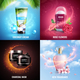 Cosmetics 2x2 Design Concept - GraphicRiver Item for Sale