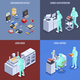 Semicondoctor Production Concept Icons Set - GraphicRiver Item for Sale