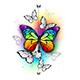 Composition with Rainbow Butterfly - GraphicRiver Item for Sale