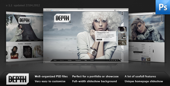 Depth - Creative PSD Templates