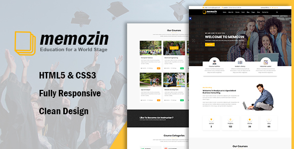 Memozin - Education Courses School Template