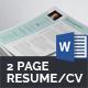 Modern Resume/CV (2 Page) - GraphicRiver Item for Sale