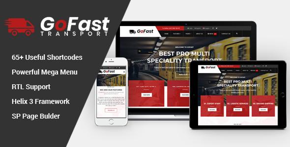 GoFast - Multipurpose Transport Logistics Joomla Template