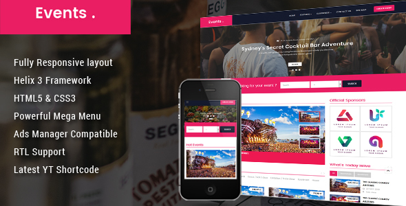 Event - Conference & Event Joomla Template
