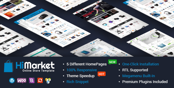 HiMarket – Electronics Store/Medical/Sport Shop WooCommerce WordPress Theme Free Download